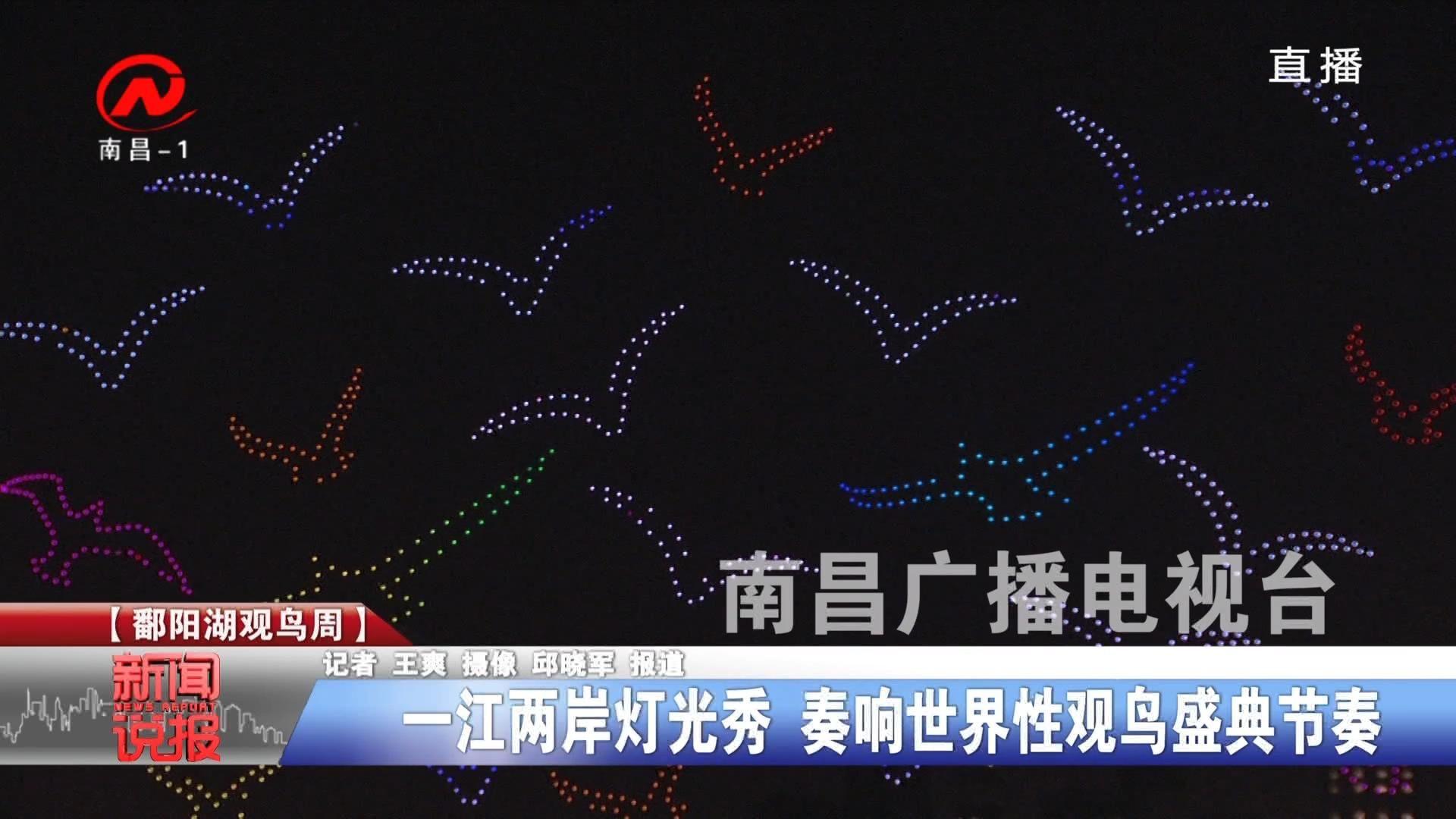 一江两岸灯光秀 奏响世界性观鸟盛典节奏