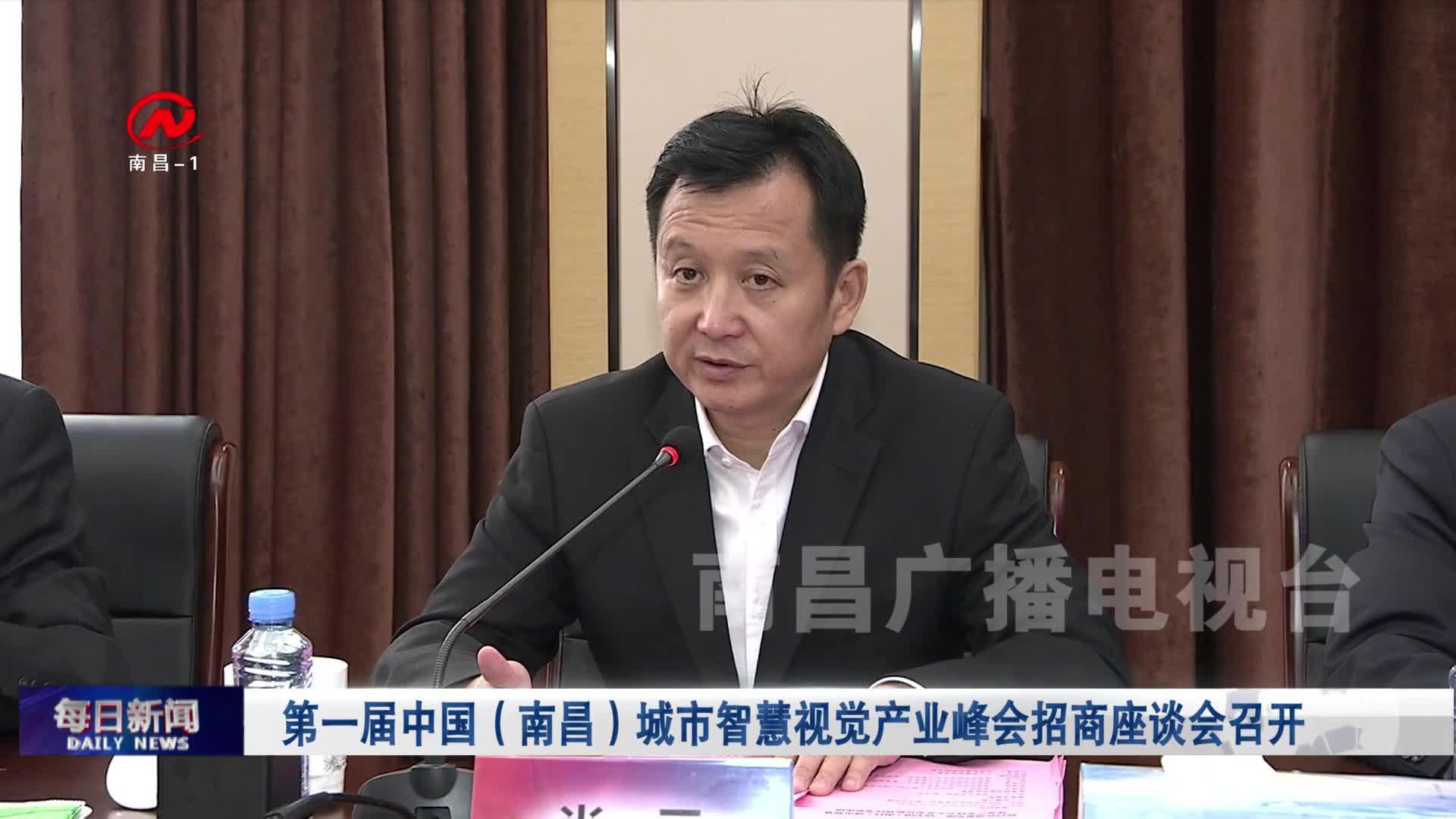 第一届中国(南昌)城市智慧视觉产业峰会招商座谈会召开
