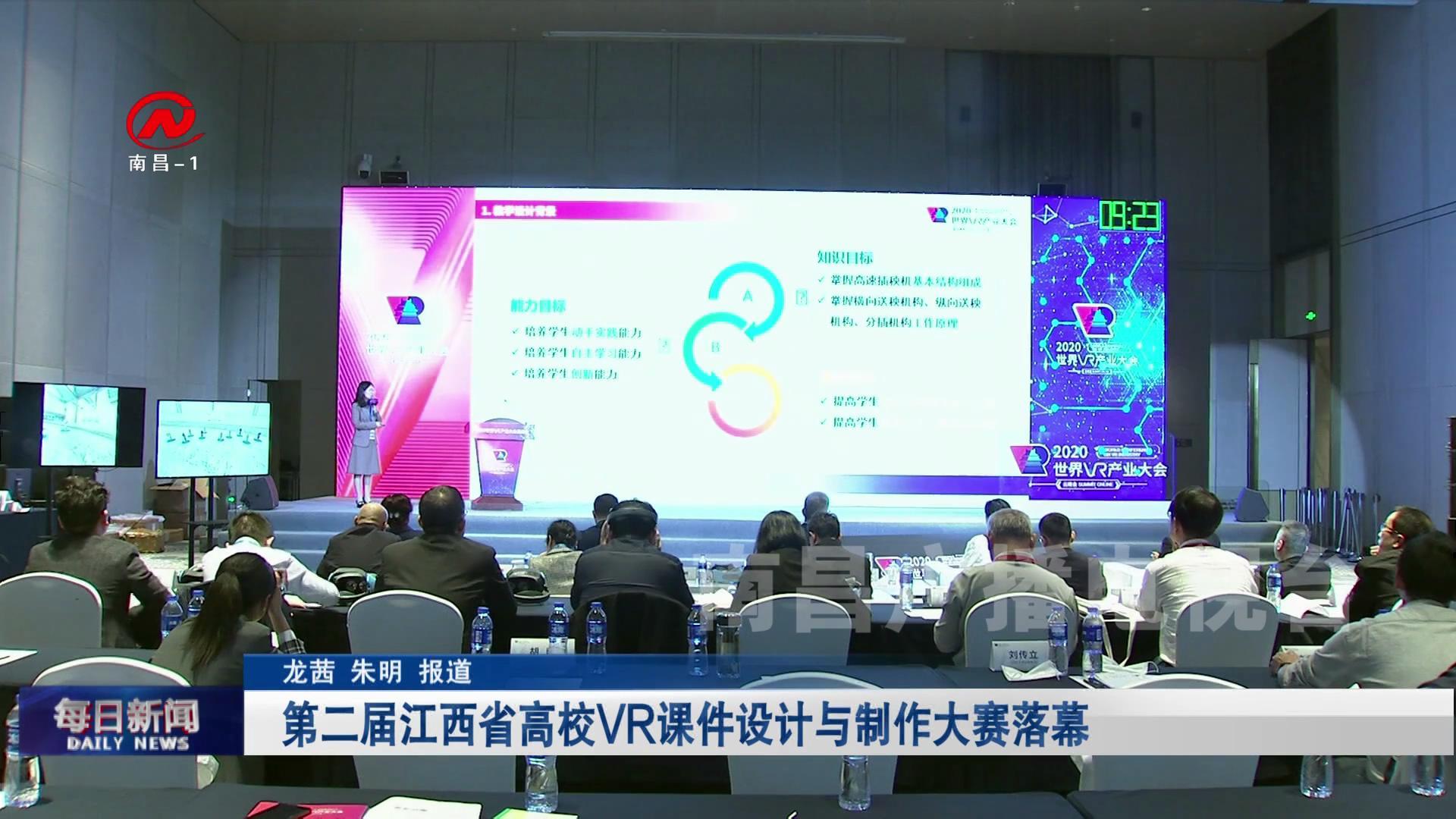 第二届江西省高校VR课件设计与制作大赛落幕