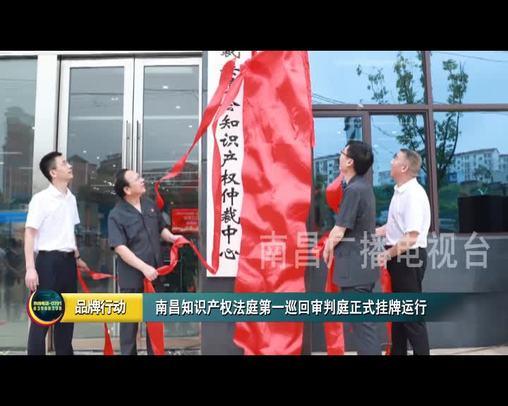 南昌知识产权法庭第一巡回审判庭正式挂牌运行