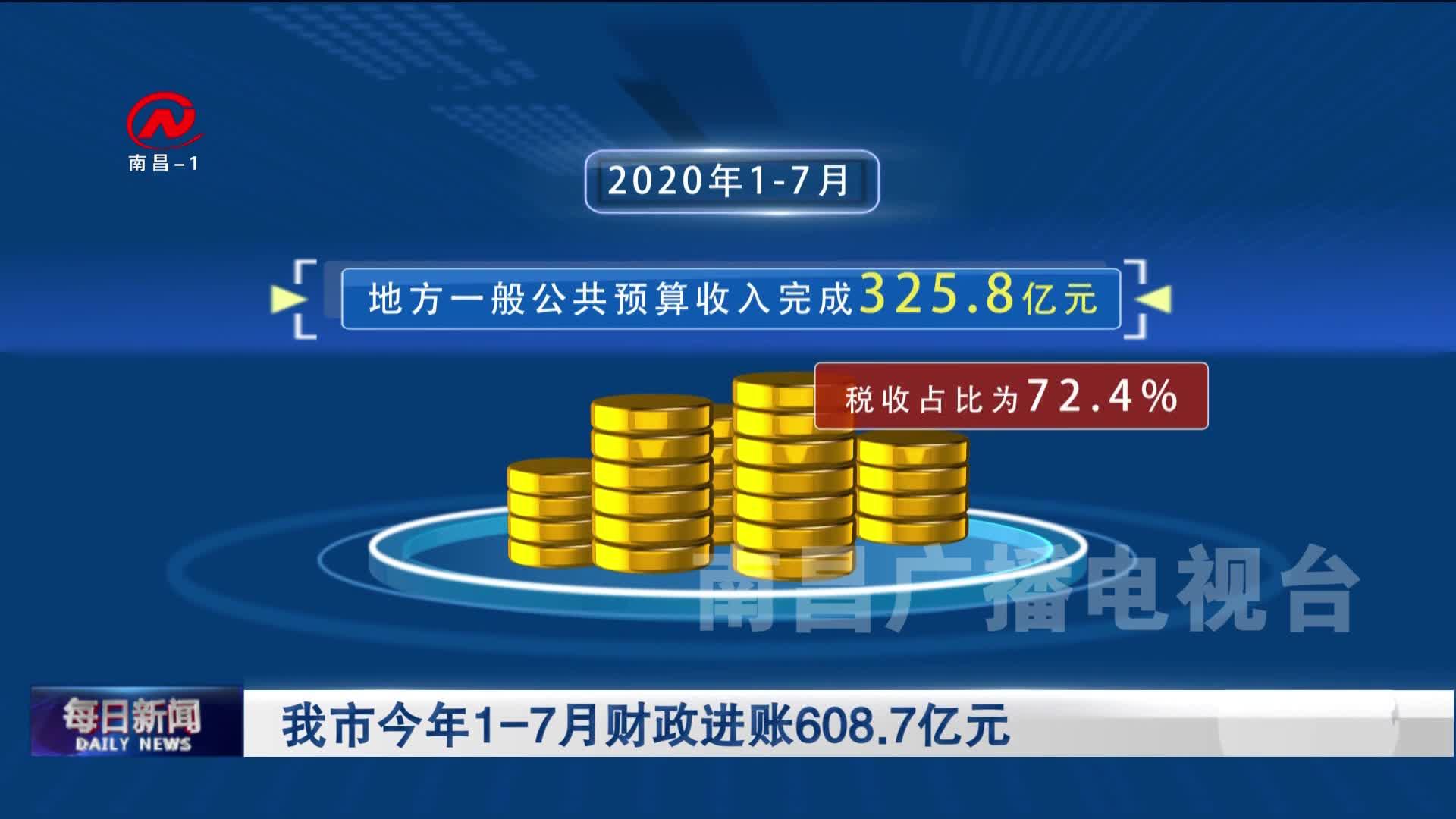 我市今年1-7月財政進賬608.7億元