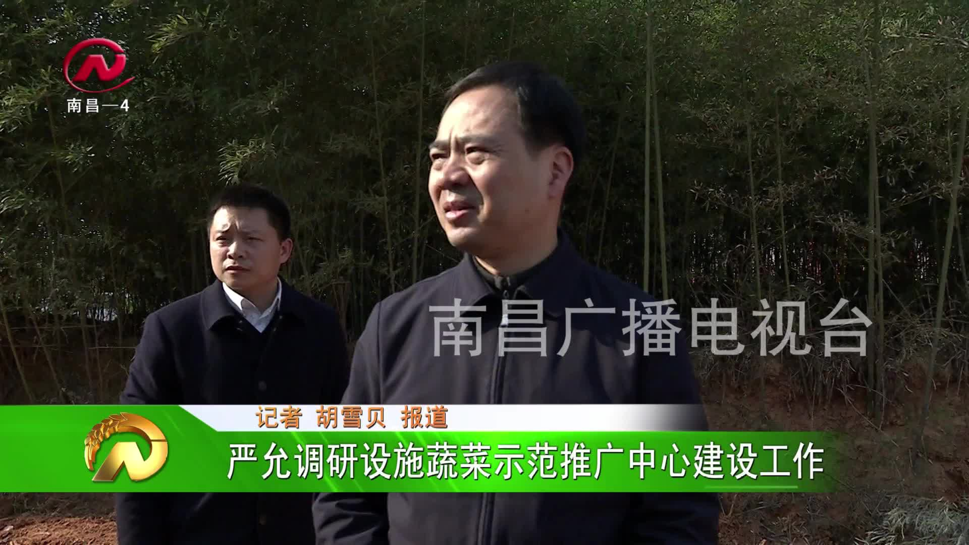 【豫章农视】严允调研设施蔬菜示范推广中心建设工作
