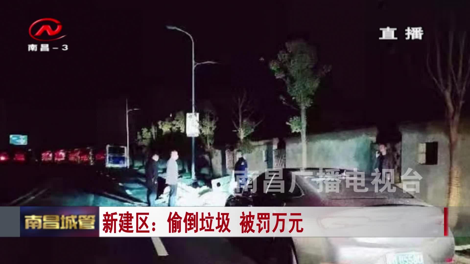 【城管新聞】新建區:偷倒垃圾 被罰萬元