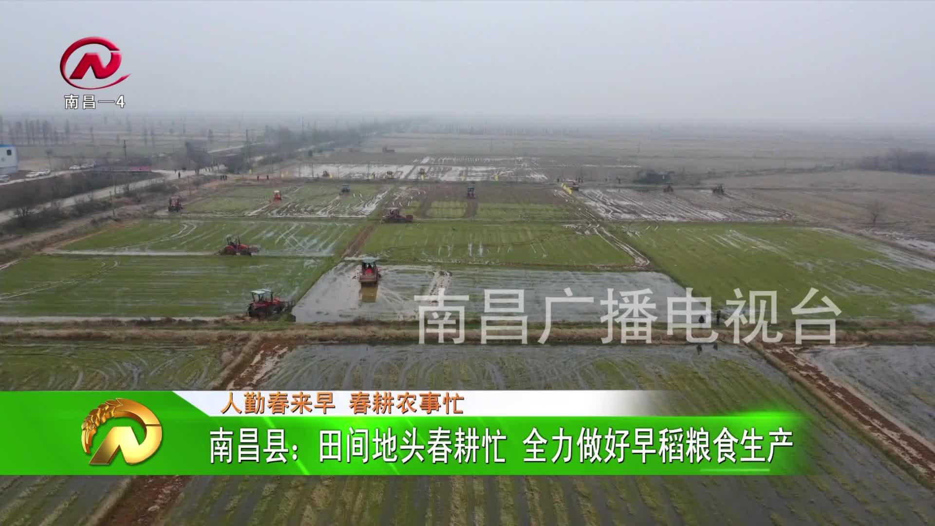 【豫章农视】南昌县:田间地头春耕忙 全力做好早稻粮食生产