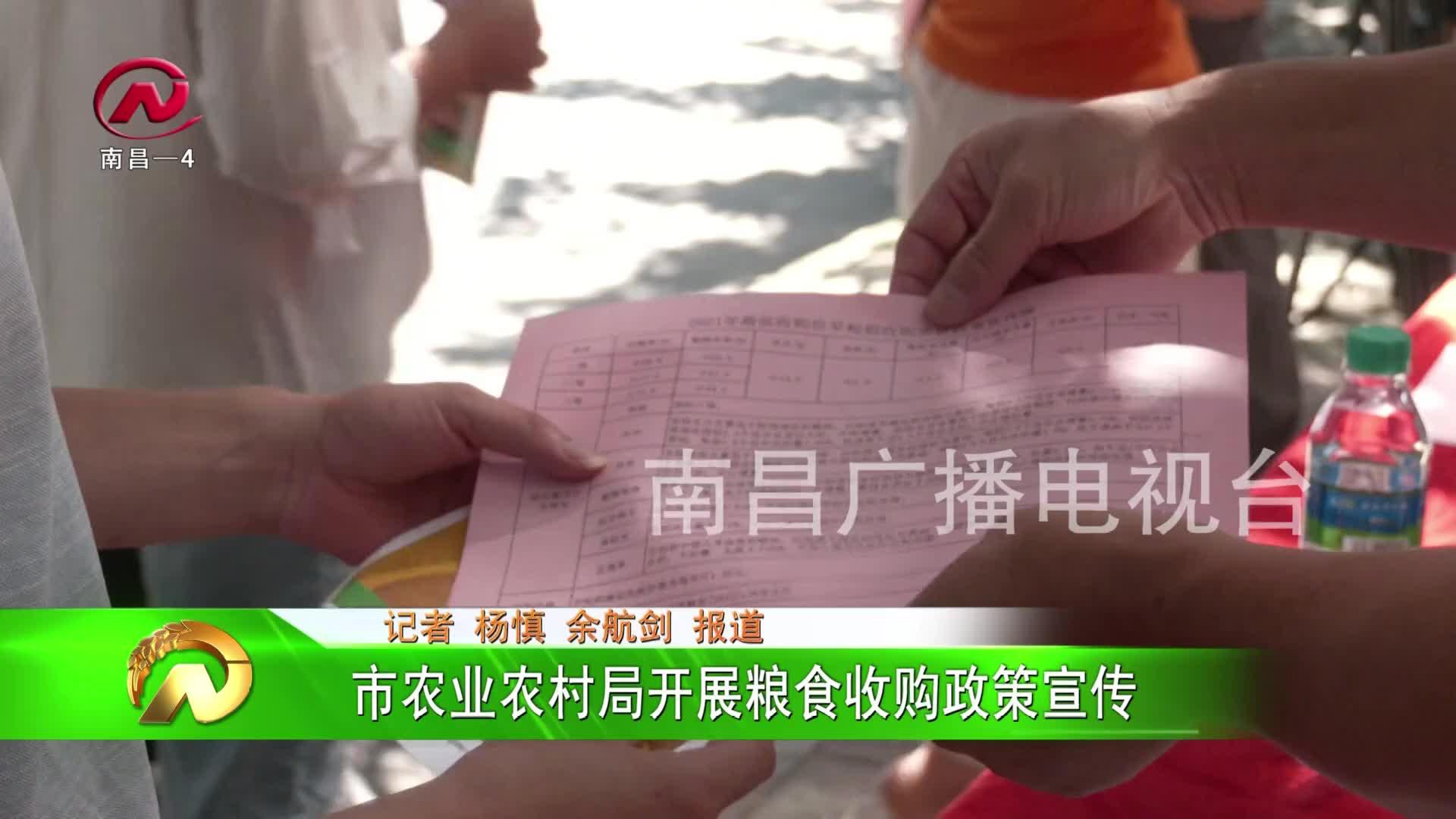 【豫章农视】市农业农村局开展粮食收购政策宣传