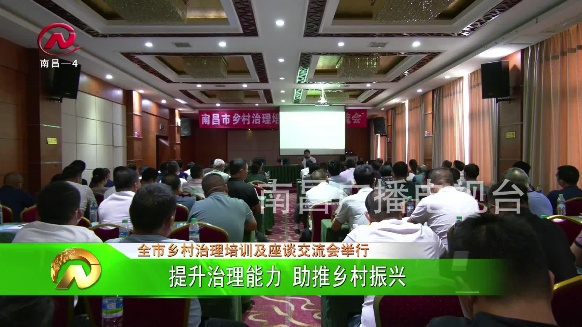 【豫章农视】提升治理能力  助推乡村振兴