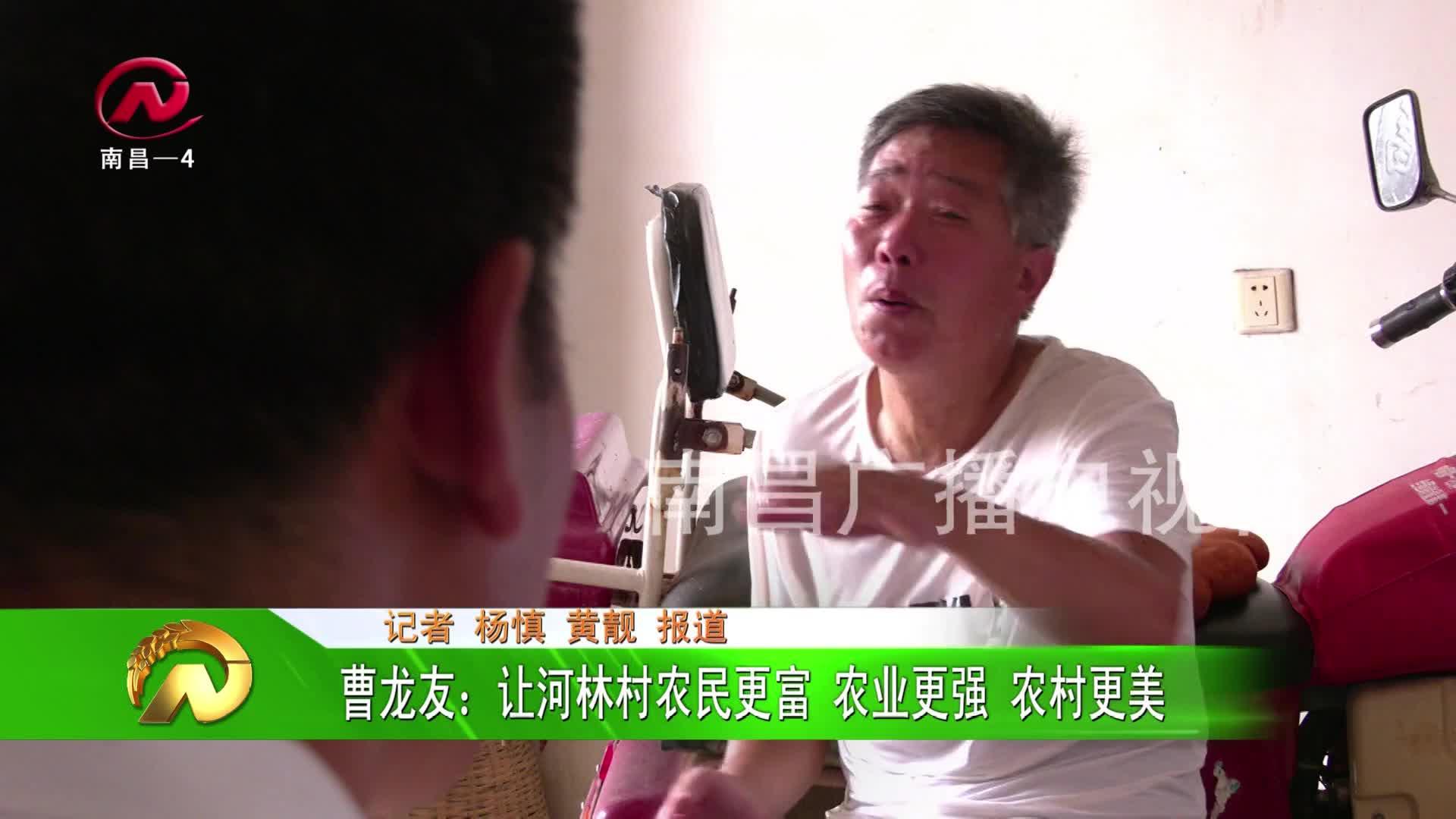 【豫章农视】曹龙友:让河林村农民更富 农业更强 农村更美