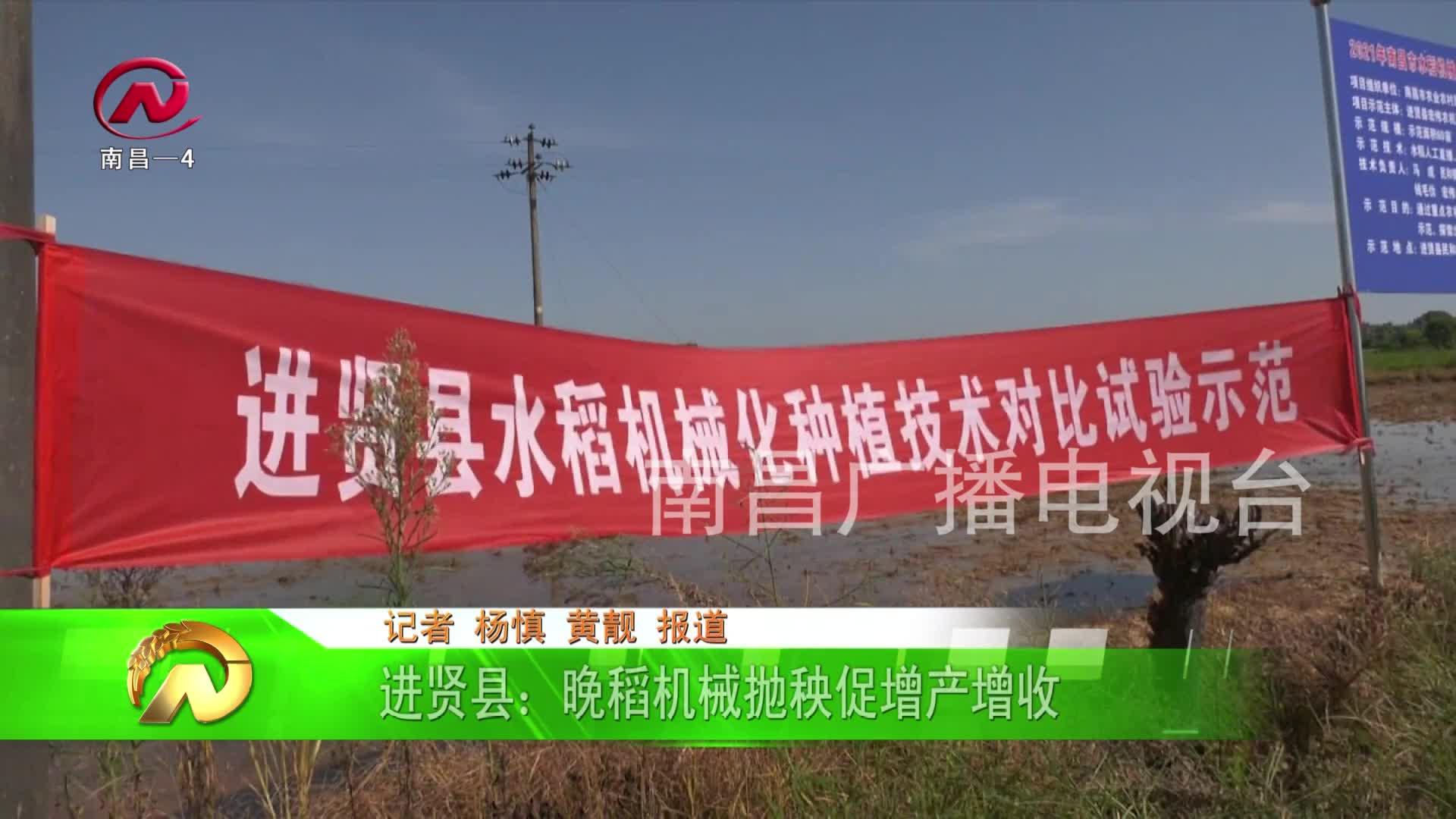 【豫章农视】进贤县:晚稻机械抛秧促增产增收