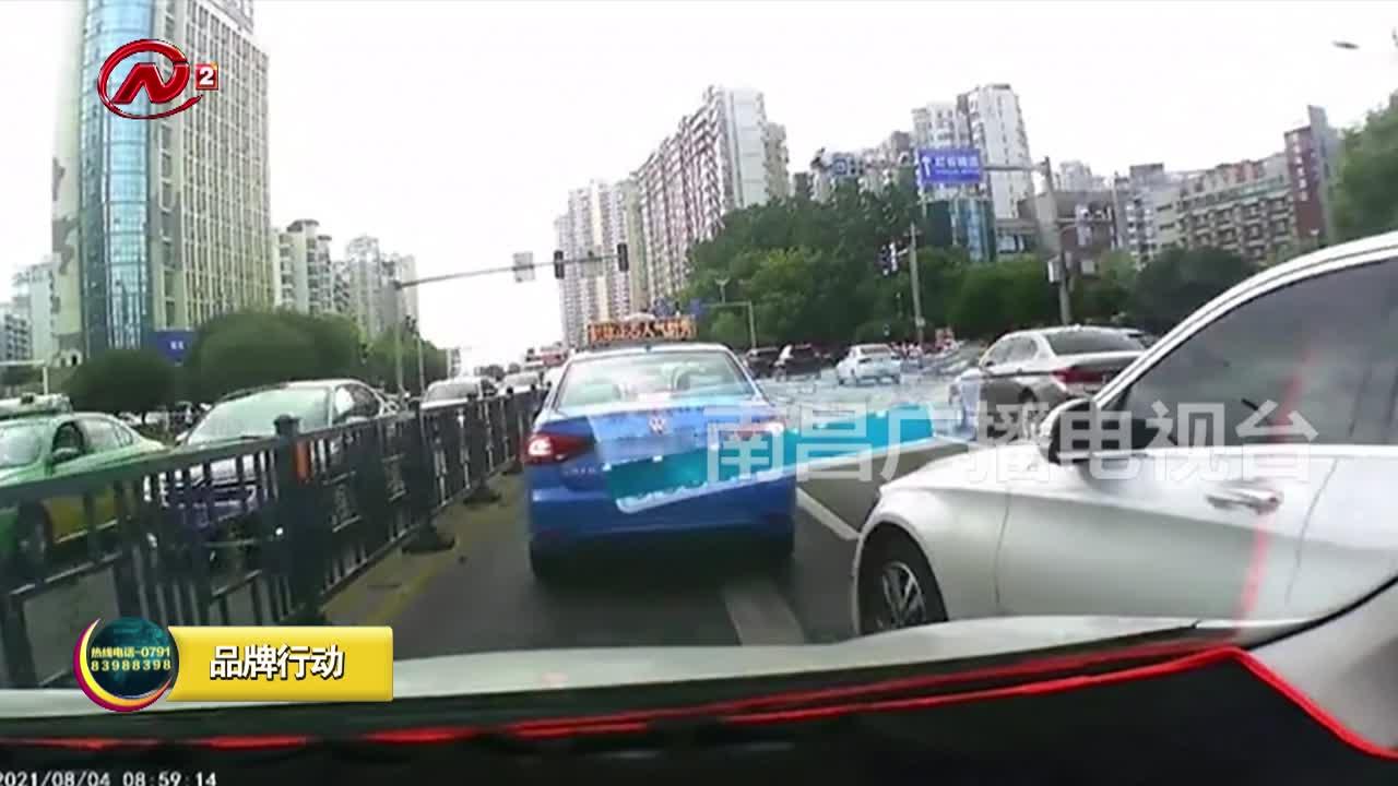 南昌持续加大乱变道交通违法整治